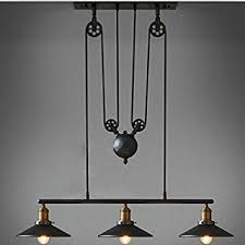 Industrial Lighting Fixtures For Kitchen Winsoon Industrial Vintage Chandeliers Pulley 3 Light Pendant