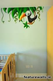 Monkey Bathroom Ideas by Mural For Kids Room Monkey Monkey Hangs From A Palm Tree In This