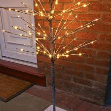 twig tree with lights 1 6m snow covered twig tree with 160 warm white leds