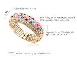 multi color swarovski crystal bracelet images Luxury multicolor crystal from swarovski bracelets bangles jpg