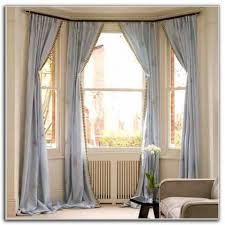 modern bay window curtain ideas curtains home design ideas modern