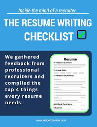 Resume Samples Recruiter by Resume Tips From Recruiters Virtren Com
