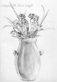 Vase Of Flowers Drawing Gallery Draw A Easy Rose Flower Vase Step By Step Drawing Art