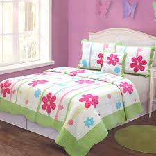 girls pink and green bedding quilt twin bedding med art home design posters