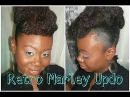 what is a marley hairdos 86 natural hair retro marley updo protective style youtube