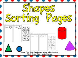 free sorting shapes practice pages both 2 d and 3 d solid shapes