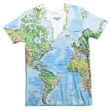 Greenland World Map by World Map T Shirt Shelfies