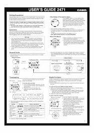 user manual for casio watch module 2471 owner u0027s guide u0026 instructions