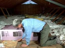 insulating attic pull down stairs youtube