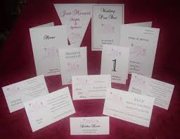 Personalised Wedding Invitation Cards Invitations Day Or Evening Personalised Butterfly Heart Diamonte