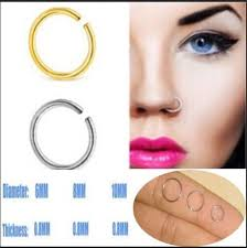 lip rings images 2pc 8mm 10mm fashion curved nose rings lip ring seamless hoop stud jpg