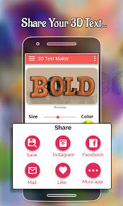 3d text maker for android free download and software reviews