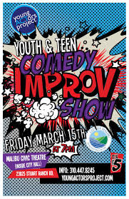 2013 youth and teen sketch comedy improv show poster