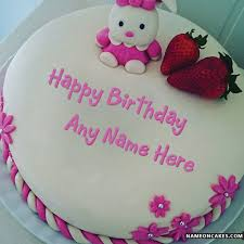 doll happy birthday cakes for kids with name