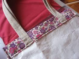 sac cabas en lin sac cabas en lin et appliqués décor ruban noué paminatelier com
