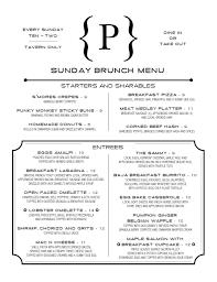 menu for brunch our sunday brunch menu family friendly italian restaurant