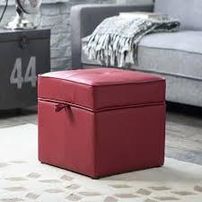 ottoman leather ottoman with storage red leather storage ottoman