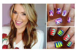 diy nail art using tape youtube