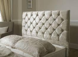 Crushed Velvet Fabric Upholstery Luxury Monoco Crushed Velvet Fabric Upholstered Storage Bed 4