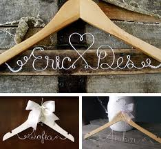 custom wedding wedding hangers