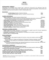 exle of resume for nurses nursing student resume exle 10 free word pdf documents