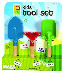 amazon com toysmith kid u0027s 3 piece garden tool set toy