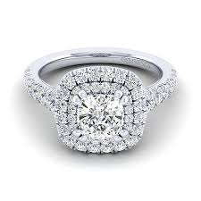 double engagement rings images Sequoia 14k white gold cushion cut double halo engagement ring jpg