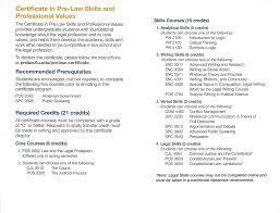pre law certificate pre law