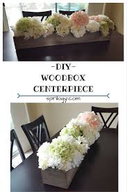 Wood Box Centerpiece by Sprilogy Diy Wooden Flower Box Centerpiece
