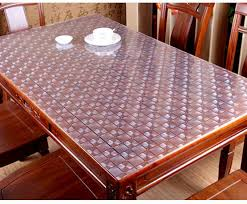 thick plastic table cover 2 0mm plastic crystal table mats soft pvc matt transparent