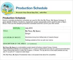 sample production timeline production logproject pre production