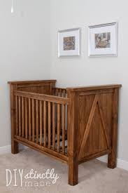 Free Wood Baby Cradle Plans by Ana White Build A Diy Farmhouse Crib Featuring Diystinctly