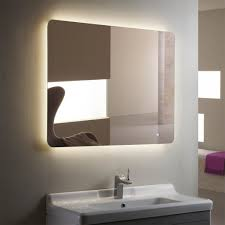 bathroom lighted mirror borders the concept of the lighted wall