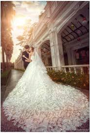 luxury wedding dresses discount high end custom luxury wedding dresses petal 60cm