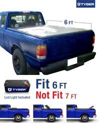 mazda pickup tyger tri fold pickup tonneau cover fits 93 13 ford ranger not