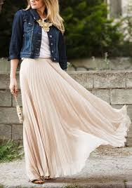pleated skirts plain pleated ankle floor length fashion polyester