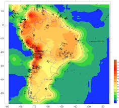 A Map Of South America by Seismic Properties Of South America And Surrounding Oceanic Basins