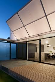 White Awning Incredible Home Design With Courtyard In The Middle Of The
