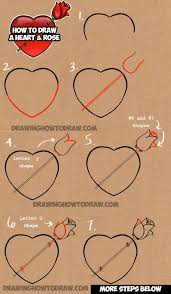 heart drawings with ribbons and roses freespywarefixescom