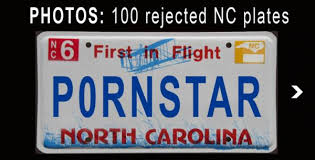 personalize plates drugs profanity among nc s rejected license plates wral
