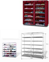 shoe rack shelf storage closet organizer cabinet lightweight 6