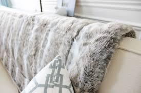 Faux Fur Throw Grey Am Dolce Vita The Best Faux Fur Throw