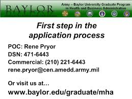 army u2013 baylor university graduate program in health and business