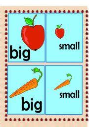 english teaching worksheets big or small