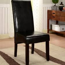 Leather Parsons Chairs Faux Leather Parsons Kitchen U0026 Dining Chairs You U0027ll Love Wayfair