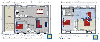 plan de maison avec cuisine ouverte plan maison zircon