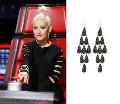black chandelier earrings the voice season 10 episode 7 s black chandelier