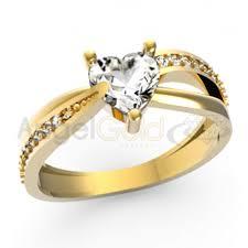 pierscionek zareczynowy złoty pierścionek zaręczynowy serce pr 585 angel gold