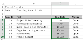 format date in excel 2007 use conditional formatting to highlight due dates in excel learn