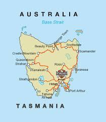 map of tasmania australia show me your map of tasmania self drive motorcycle tour hba